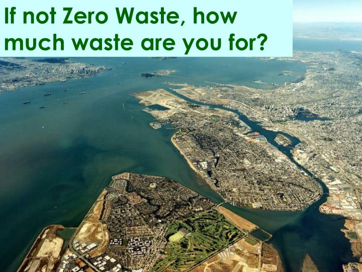 If not Zero Waste, how much waste are you for?