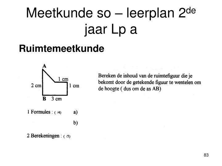 Meetkunde so – leerplan 2