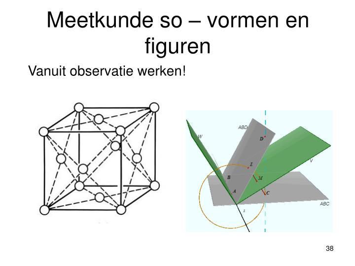 Meetkunde so – vormen en figuren