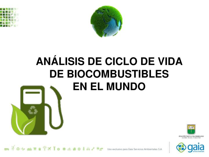 Análisis de Ciclo de Vida - Biocombustibles