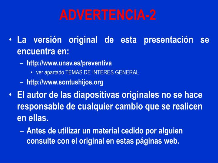 Advertencia 2