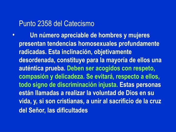 Punto 2358 del Catecismo