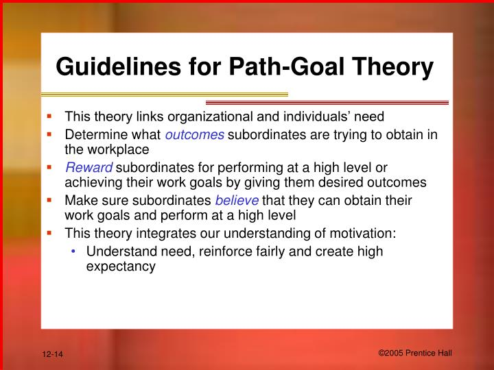 Guidelines for Path-Goal Theory