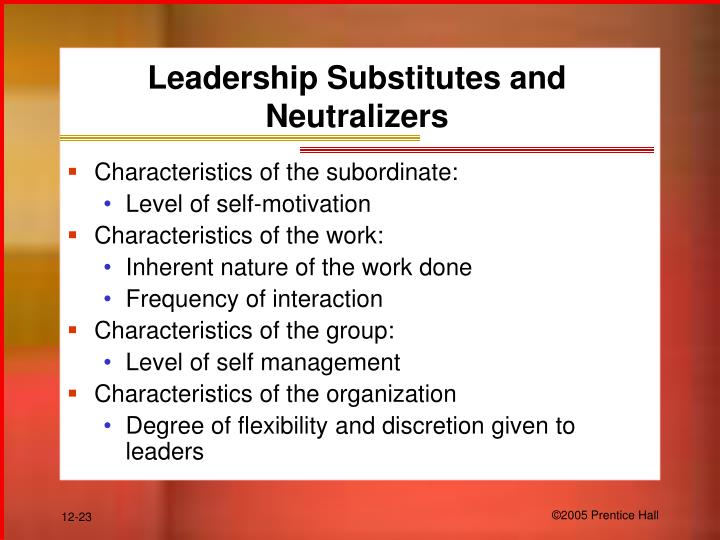 Leadership Substitutes and Neutralizers