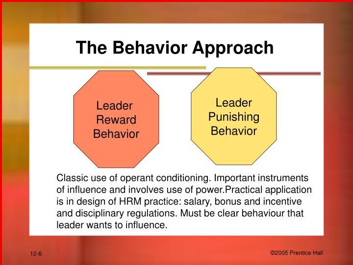 The Behavior Approach