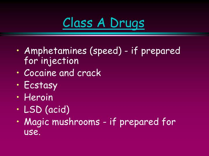 Class A Drugs