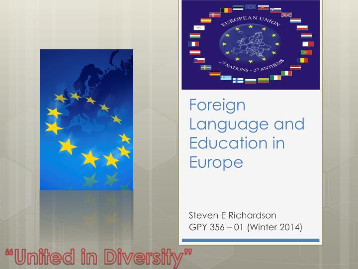 Foreign language and education in europe