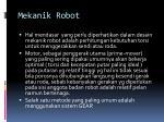 mekanik robot1