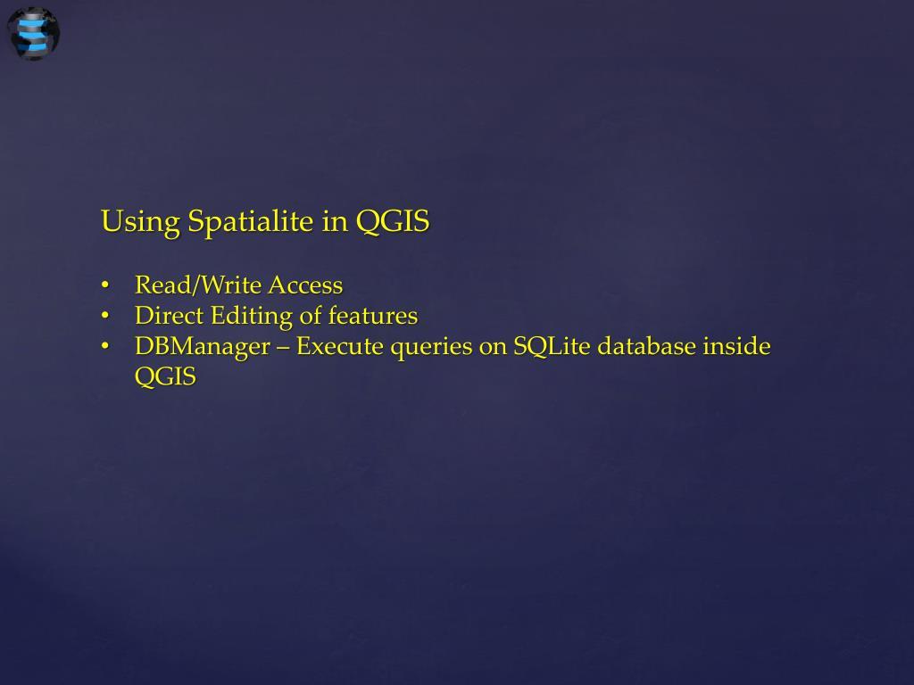 PPT - Spatialite PowerPoint Presentation - ID:5739648