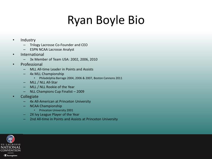 Ryan boyle bio