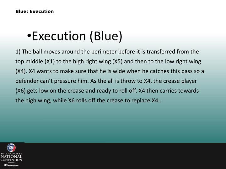 Blue: Execution