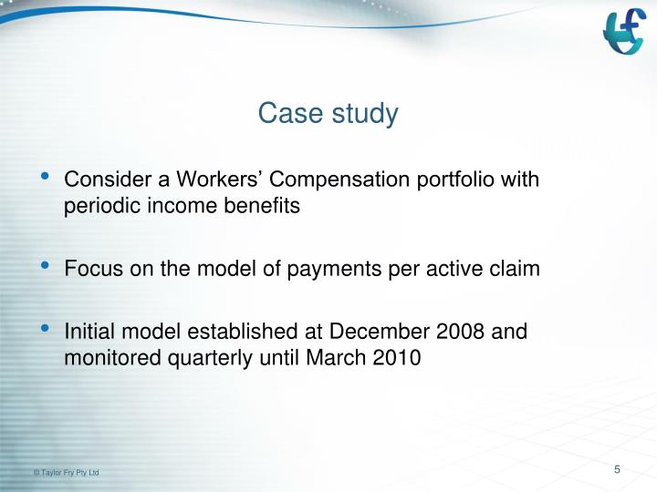 case study on workmen compensation Mark farrugia (national workers compensation manager - insurance house) spoke with michael van den hoogen (national oh&s manager simplot australia) about.