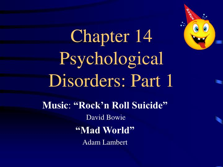 ch 13 psyhological disorders Chapter 13: psychological disorders psychopathology —scientific study of the origins, symptoms, and development of psychological disorders slideshow 3053346 by reia.