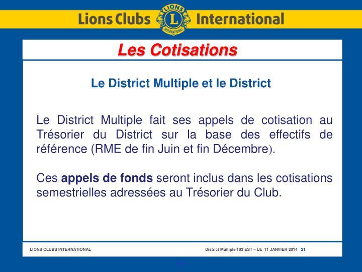 Le District Multiple et le District