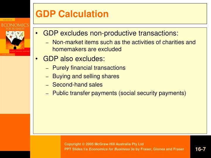 GDP Calculation