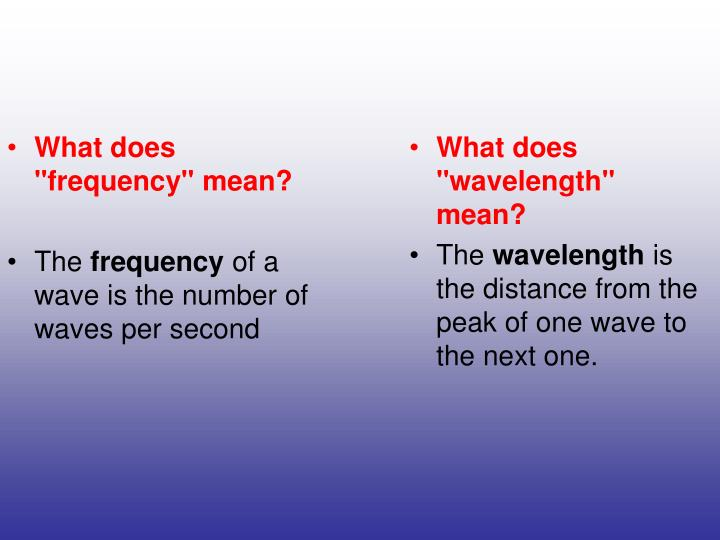 """What does """"frequency"""" mean?"""