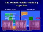 the exhaustive block matching algorithm