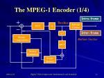 the mpeg 1 encoder 1 4