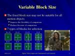 variable block size