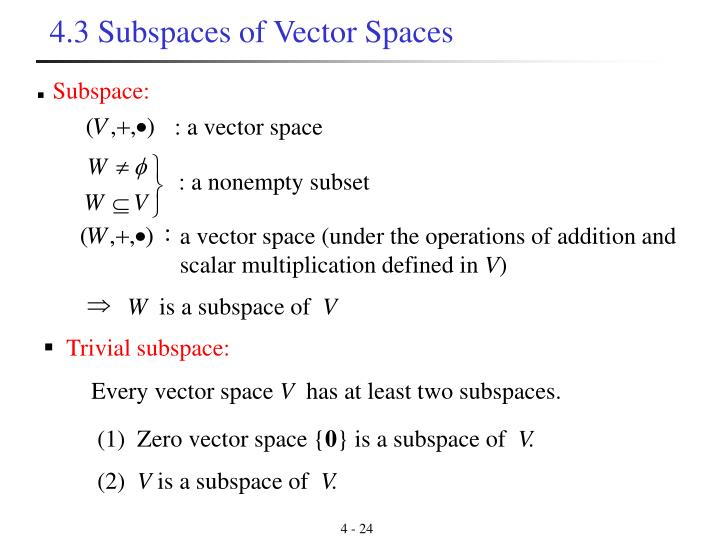 Trivial subspace: