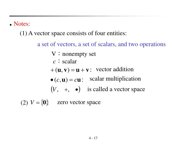 is called a vector space