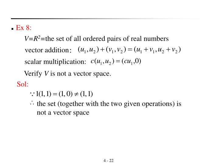 the set (together with the two given operations) is