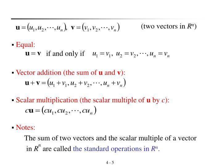 (two vectors in