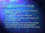 group temperament study