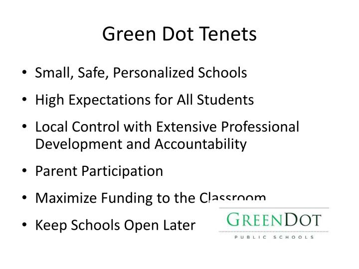 Green Dot Tenets