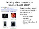 learning about images from keyword based search