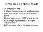 srvc training phase details