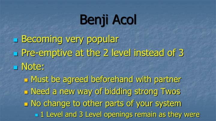 Benji acol