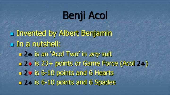 Benji acol1