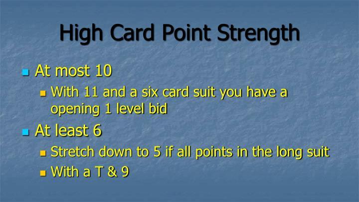 High Card Point Strength
