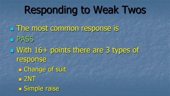 Responding to Weak Twos