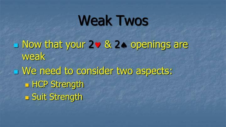 Weak Twos