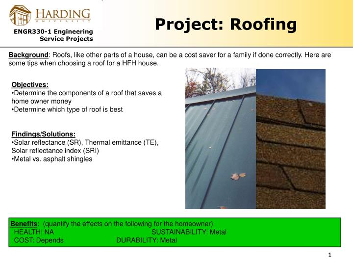 Project roofing