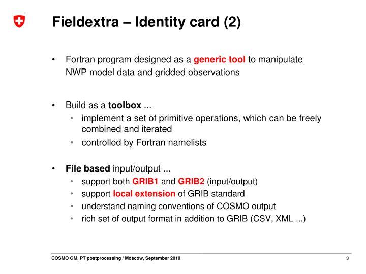 Fieldextra identity card 2