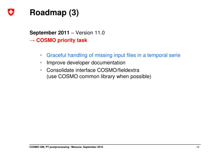 Roadmap (3)