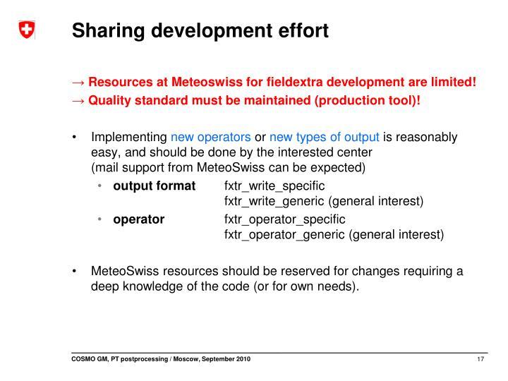 Sharing development effort