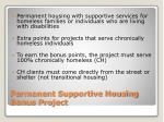 permanent supportive housing bonus project