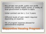 supportive housing program