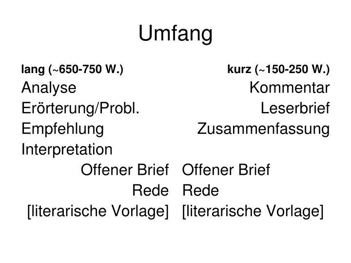 lang (~650-750 W.)