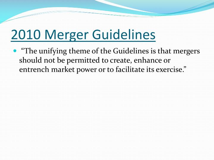2010 Merger Guidelines