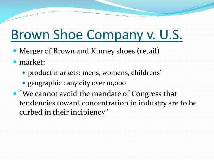 Brown Shoe Company v. U.S.