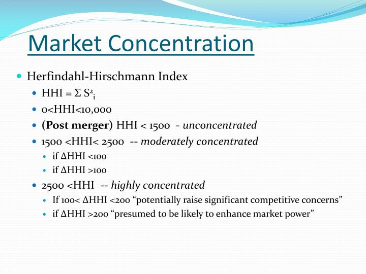 Market Concentration