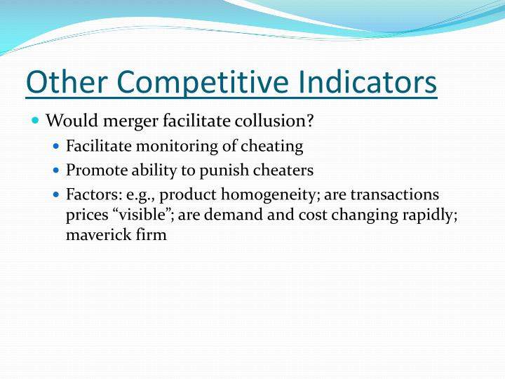 Other Competitive Indicators