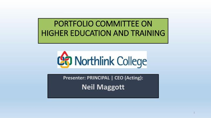 portfolio committee on higher education and training n.
