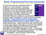 book programming from the ground up