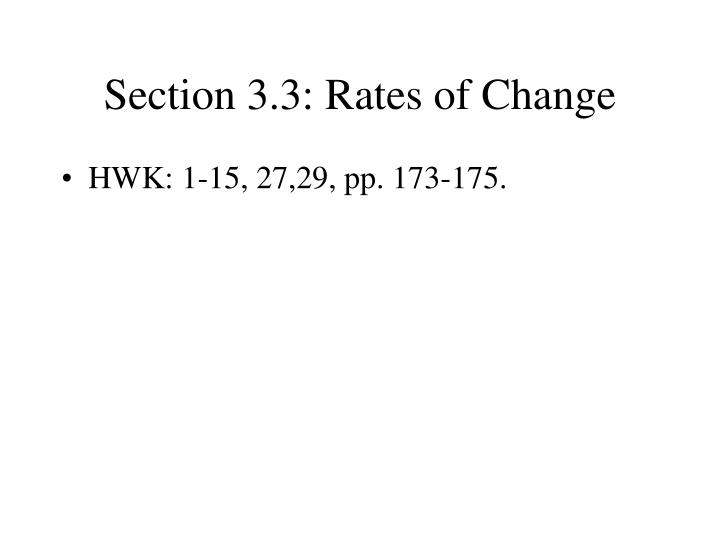 section 3 3 rates of change n.